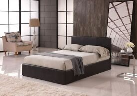 LEATHER 4FT6 BED FRAME BRAND NEW DOUBLE + DELIVERY
