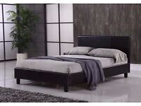 Attractive Design *** BRAND NEW FAUX LEATHER BED FRAME AND MATTRESS DOUBLE/SINGLE
