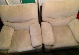 X2 Comfortable Reclining Armchairs