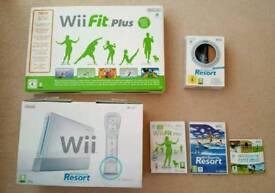 Nintendo Wii and sports resort.