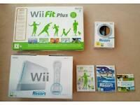 Nintendo Wii and sports resort.