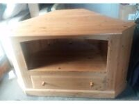 Solid Pine TV Unit with storage