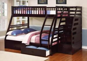 FREE Shipping in Vancouver! Twin over Full Bunk Bed with Stairway Chest and Storage Drawers!  Brand New!