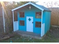 Rowlinson hideaway 2 storey playhouse with upstairs & veranda.Cost £700 sell £395 very gud condition