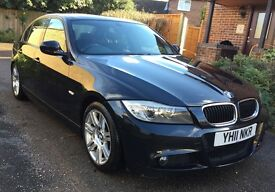 **£7,250 MUST GO IN 24HRS** 2011 BMW 318D M SPORT BLACK, MOT FEB'18, FSH, 2 KEYS
