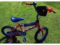 "Kids Spiderman 14"" Bicycle As new"