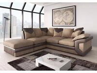BRAND NEW- CORNER SOFA IN GREY /BLACK AND BROWN /BEIGE COLOUR 3 AND 2 SEATER SOFA ALSO AVAILABLE