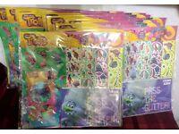 Job lot 16 x TROLLS MEGA STICKER SETS Includes Glitter & Vinyl Stickers.