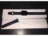 Apple Watch Series 1, 42mm Space Grey Aluminium Case with Sport Band, Black.