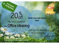 20% off first two months of your Office Cleaning