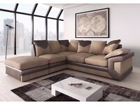 **HIGH QUALITY **JUMBO CORD CORNER SOFA AVAILABLE IN BROWN AND BEIGE OR GREY AND BLACK COLOUR
