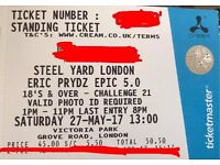 3x eric prydz steel yard london tickets 27th may