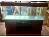 4ft mahogany fish tank with all accessories excellent condition