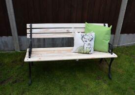 Cast iron Wooden Garden/ Patio Bench