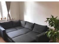 Hygena Seattle Fabric Left Hand Corner Sofa Bed - Charcoal RRP £649.99