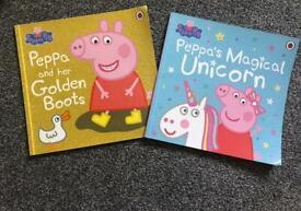 Sparkly peppa pig books