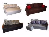 QUALITY BRAND NEW SOFA BEDS CORNER SOFA IN FABRIC ***MANY COLOURS***