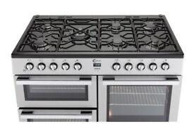 FLAVEL 7 burner dual fuel range cooker (SILVER)