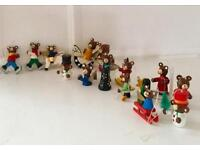 16 Traditional Old Christmas Wooden Decorations