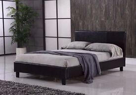 BRAND NEW LEATHER STORAGE SINGLE BED / DOUBLE BED / KINGSIZE BED ALL SIZES AVAILABLE