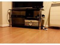 Beautiful black glass TV Stand