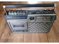 HITACHI TRK-5030E 4-Band Radio Cassette Recorder Vintage Clean