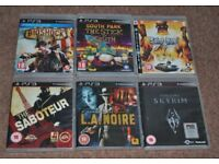 SONY PLAYSTATION PS3 GAMES SET 3
