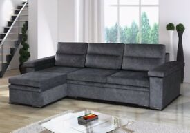 Cash on delivery Espen Fabric Corner Sofa bed with Storage-Fast Delivery in all over UK