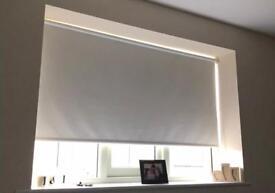 3 x cream blackout roller blinds
