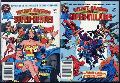 Secret Origins Villains, Heroes PAIR UNREAD DC Digest Books Wonder Woman Origin! - Comic Book Women Villains