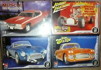 AMT & Johnny lightning 4 pack Shelby Cobra Vette GTX ICE 1/25
