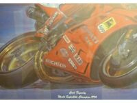 Framed colour original print in biking + to go with this lovely picture his Book ~ Foggy
