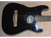 Fender Stratacoustic Electro Acoustic Guitar , New Model with Tuner / Black