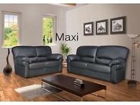 **JANUARY SALE** New Luxury Contemporary Faux Leather Sofa Set (3 Seater & 2 Seater Included)