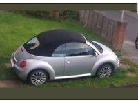 Volkswagen Beetle convertible silver. MOT FSH LOW MILEAGE