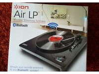 ION Air LP wireless streaming turntable - used once / like new in box