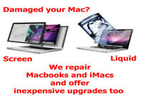 Mac Repairs - including liquid and impact damage.
