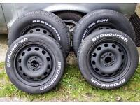 4 x 108 *reduced* Ford wheels not banded BF Goodrich Radial T/A tyres