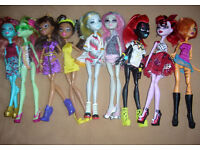 1st Bundle of 10 Monster High Dolls (Free Local Delivery)
