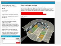 4x David Haye v Tony Bellew Tickets. Block 112, Row F! Low Tier Tickets