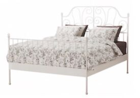 White double bed frame from ikea! Excellent quality
