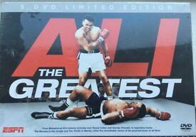 Ali the Greatest....Muhammed Ali 5 dvd boxset of his career