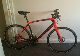 Superb Specialised Carbon Sirrus Elite Flat Handle Road Bike