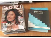 Selection of Counselling and Psychology books and magazines