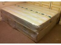 ***New*** Double Divan Bed with Mattress £90, Single Divan Bed with Mattress £70