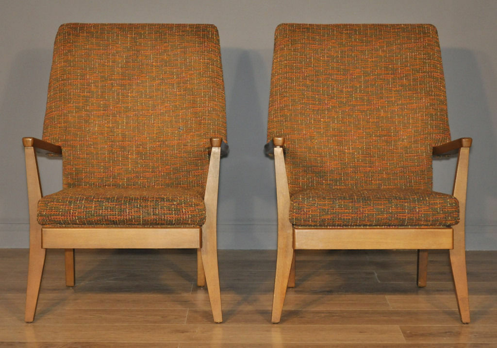 Attractive Pair Of Two 2 Retro 60/70s Fireside Easy Armchairs Arm Chairs