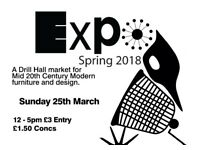 Expo – Spring 2018: The market for Mid 20th Century Modern furniture and design.