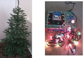 Artificial Christmas Tree and Lights (2 sets) COLLECT SUNDERLAND