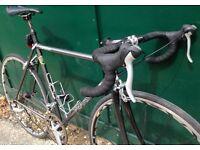 54cm Pearson Reynolds 631 lightweight frame carbon fork road race bike racing bicycle