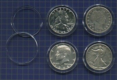 AIR-TITE Coin Holders for  Barber  Liberty  Franklin & Kennedy Half Dollars 10pk, occasion d'occasion  Expédié en Belgium